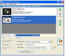 Click to download free trail version of Solid AVI to DVD Converter and Burner